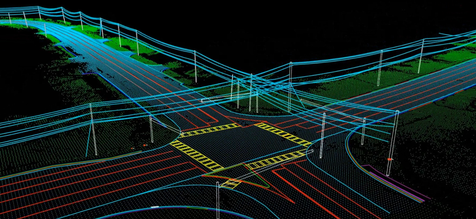 Mobile LiDAR Point Utility Infrastructure Data