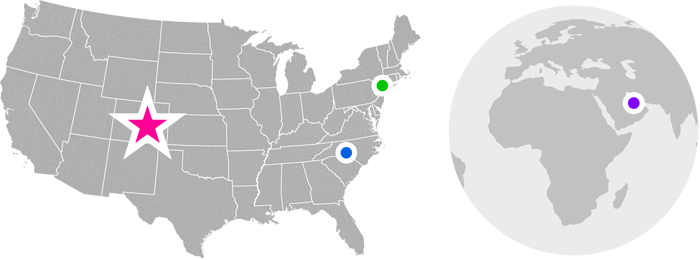 Image Map Showing Office Locations