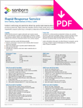 Image of Rapid Response Service Product Sheet