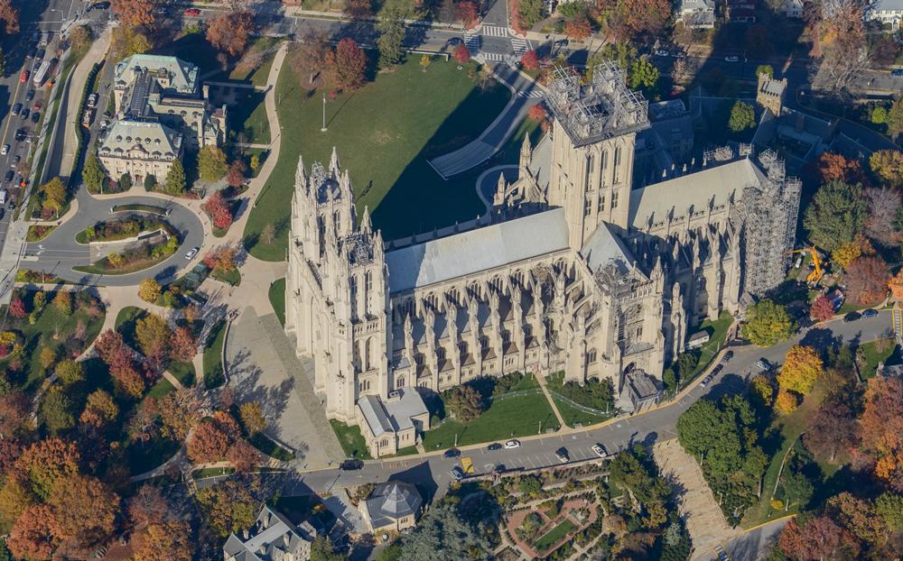 Oblique Image, Washington National Cathedral