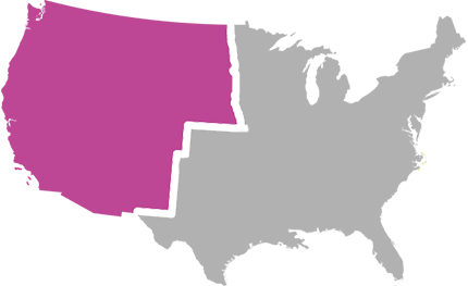 Image USA Map Divided Into Four Sales Territories