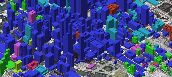 Image Showing CitySets® 3D Building Models