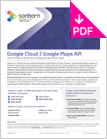 Image of Google Maps API Product Sheet