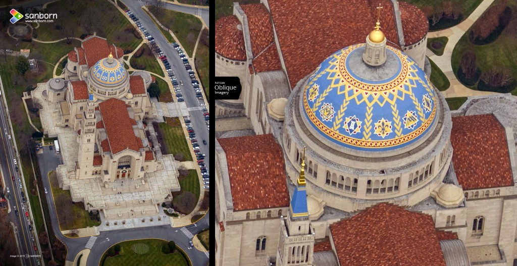 Sanborn Oblique Imagery - National Shrine of the Immaculate Conception, Washington, D.C.