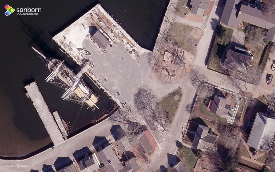 Orthoimage - Mystic Seaport, Connecticut