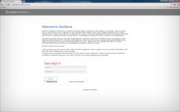 1. GeoServe Login Page